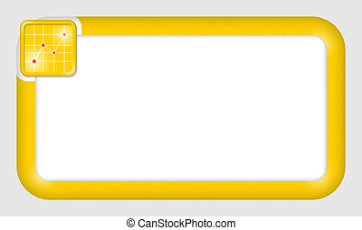 vector frame for text insertion with graph