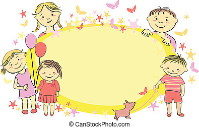 Vector frame for text with children