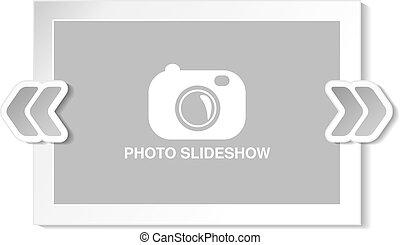 Vector frame for website slideshow, presentation or series...