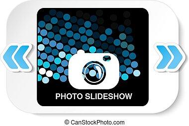 Vector frame for website slideshow, presentation or series of projected images, photographic slides or online photo album layout - illustration