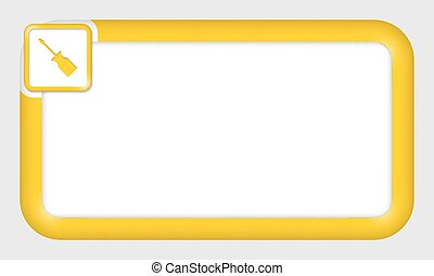 vector frame for your text and screwdriver