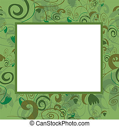 Vector frame in green tones