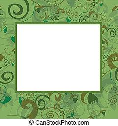 Vector frame in green tones