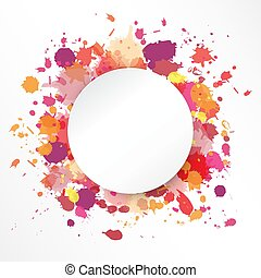 vector frame in grunge style on white background