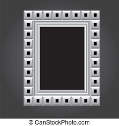 Vector frame in white color for your design