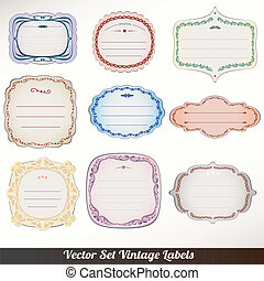 Vector Frame labels Set ornamental