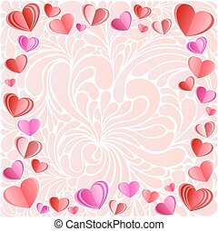 Vector frame made of hearts