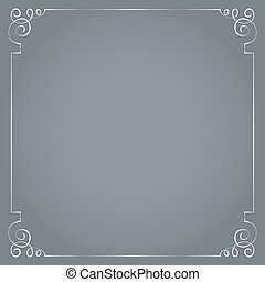 Vector frame on a gray background.