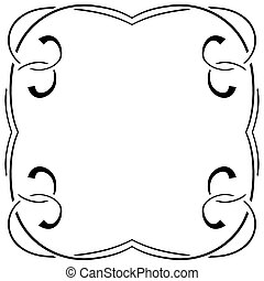 vector frame on a white background