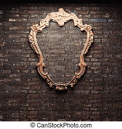 Vector Frame On Brick Wall Background