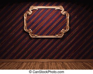 vector frame on fabric background