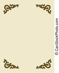 vector frame on yellow background