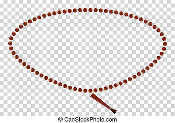 Frame - Oval Prayer Beads