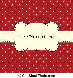 Vector frame, polka dot design
