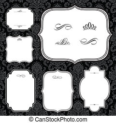 Vector Frame Set and Ornaments