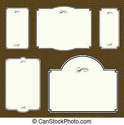 Vector Frame Set and Repeating Pattern