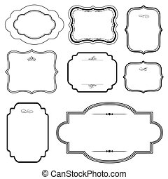 Vector Frame Set - Vector ornamental frame set. Easy to ...
