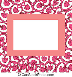 Vector frame with abstract hearts