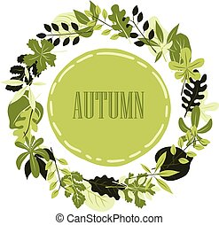 Vector frame with autumn leaves.