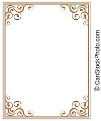 frame with brown patterns on a white background
