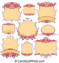 Vector frame with floral design