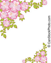 vector frame with floral pattern