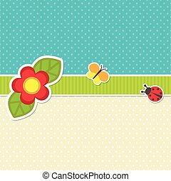Vector frame with flower