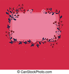 vector frame with flowers and berries 1s