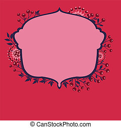 vector frame with flowers and berries 2s