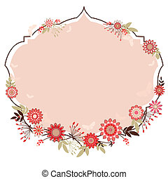 vector frame with flowers to