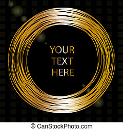 Vector frame with gold wires