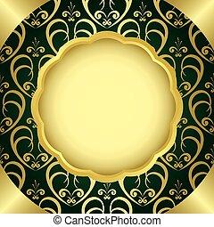 vector frame with golden center