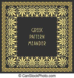 vector Frame with Greek ornament Meander - Frame with...