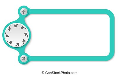 vector frame with screws and arrows