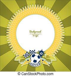 Vector frame with traditional Brazilian football theme