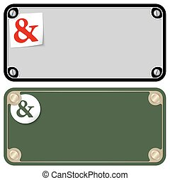 Vector frames for your text with screws and ampersand