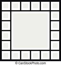 Vector frames photo collage