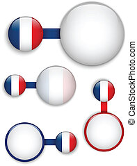 Vector - France Country Set of Banners