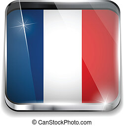 France Flag Smartphone Application Square Buttons