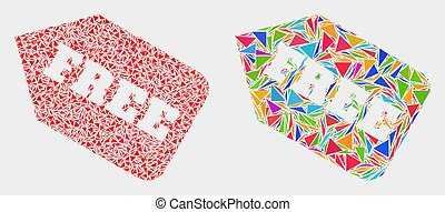 Vector Free Tag Mosaic Icon of Triangle Items