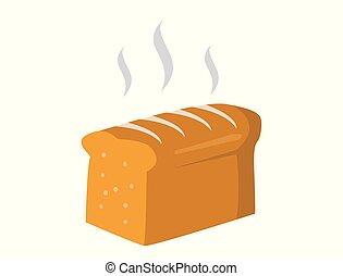 vector french bread icon