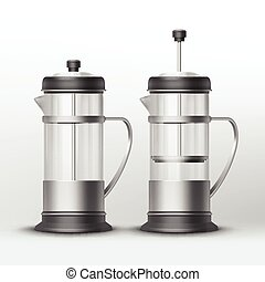 Vector french press - Vector stainless steel french press...