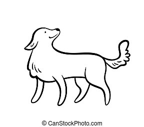 Vector frendly dog. - Vector frendly dog, isolated on white...