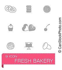 Vector Fresh bakery icon set