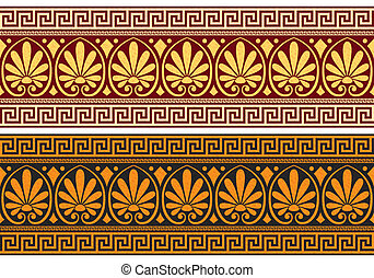 vector frieze with Greek ornament