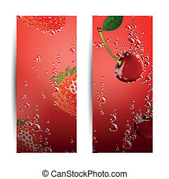 Vector Fruit Banners