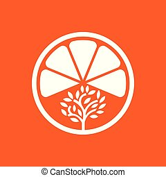 Vector Fruit House Tree Logo template design and support icon modern.