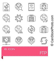 Vector FTP icon set