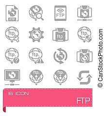 Vector FTP icon set