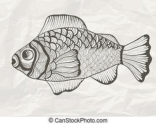 Vector Funky Fish
